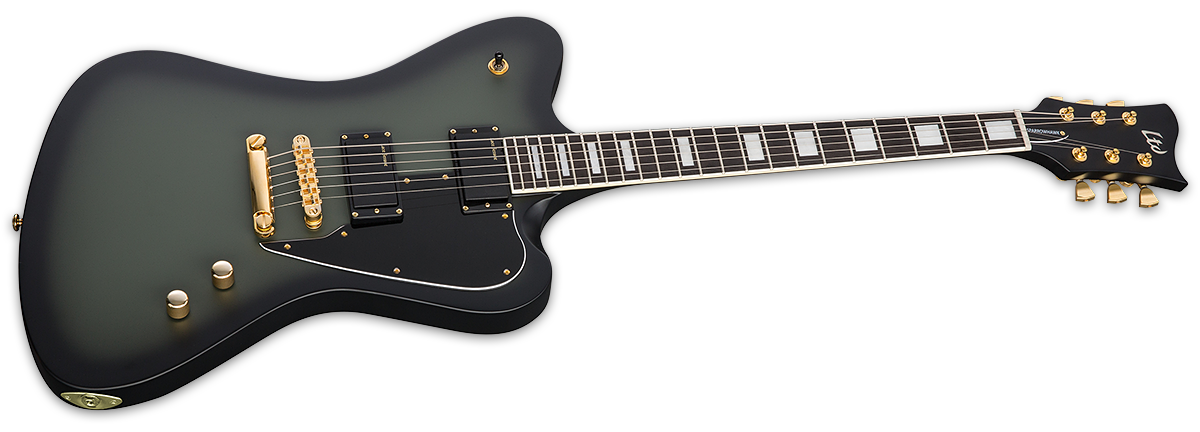 sparrowhawk military green sunburst satin the esp guitar company. Black Bedroom Furniture Sets. Home Design Ideas