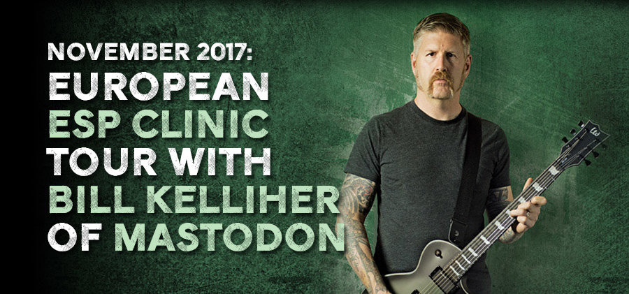 november bill kelliher esp clinics in europe the esp guitar company. Black Bedroom Furniture Sets. Home Design Ideas