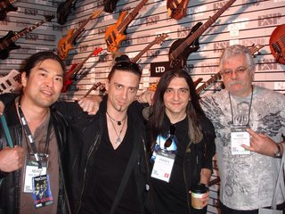Few cool cats hanging at the ESP Booth. Stephan Forte, Franck Hermanny and Mike Blackburn