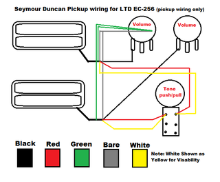 wiring diagram ec 256 the esp guitar company guitar wiring diagrams 2 pickups at Esp Wiring Diagrams