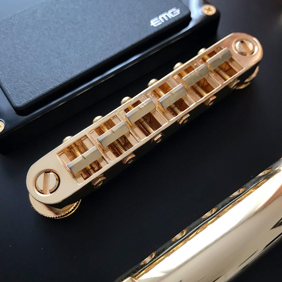 Ltd EC-1000 Deluxe VB — soft fret wire, gold paint wearing off