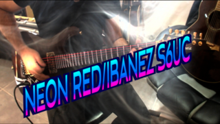 TEST Neon Red / IBANEZ S6UC