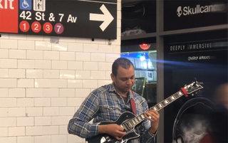 Playing live on Ny subway