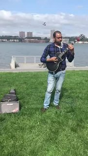 Playing live on Hudson River