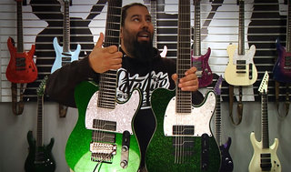 Stephen Carpenter (Deftones) on the SCT-607B Green Sparkle