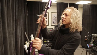 Win This KH-602 Purple Sparkle Signed by Kirk Hammett