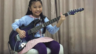 PettyRock Plays Yngwie on her E-II ST-2