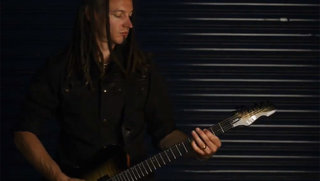 Gav King (Fields of the Nephilim) on the LTD Deluxe TE-1000 EverTune