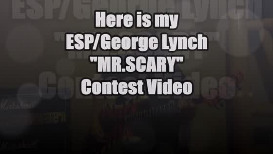 "ESP/ George Lynch ""Mr. Scary"" Contest played by Eric Stavang"