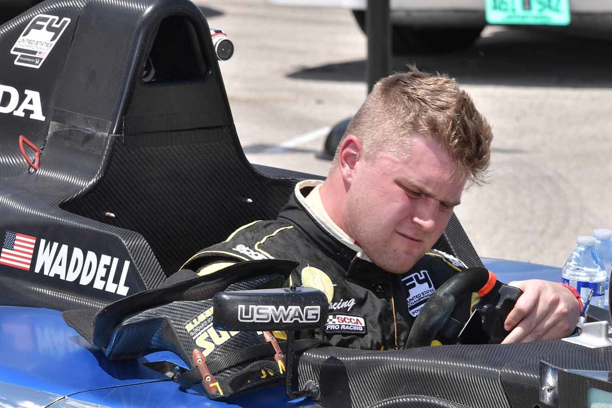 Fighting Fourth for Ben Waddell in Ligier JS P3 at Barber Motorsports Park