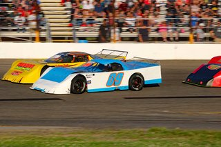 Late Model Battle For The Lead