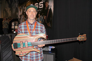 Pete Hilton with the sk8bass