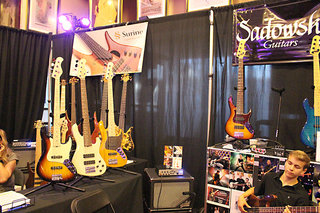 The Sadowsky Basses Booth