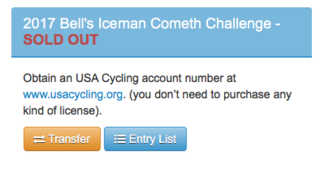 Transfer spots still available for Bell's Iceman, deadline Friday the 13th.