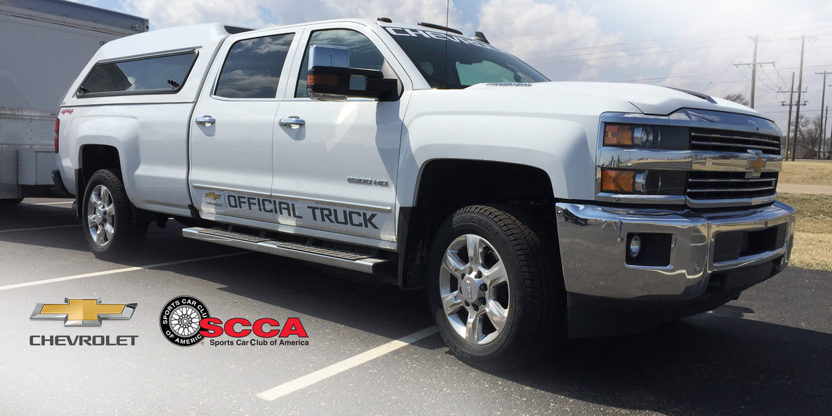 Chevrolet Continues as Official Truck of SCCA