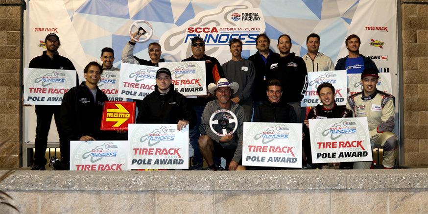 2018 Runoffs Tire Rack Pole Award Winners