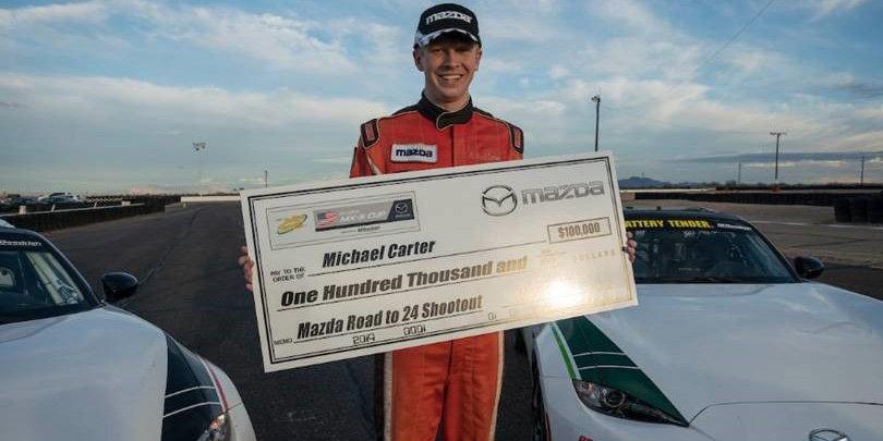 Michael Carter Wins Mazda Road to 24 Shootout