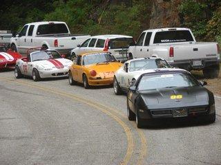 Starting line for Dragon Hillclimb
