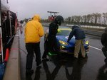 Zack getting read to run in the wet