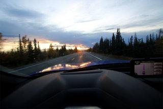 Alaska Dashboard Sunset