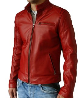 Lambskin Red Leather Bomber Jacket