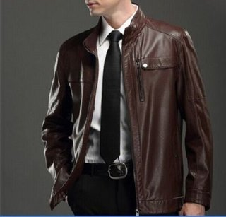 Men Genuine Lambskin Pure Leather Formal Coat
