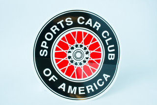 SCCA Wire Wheel Decal - Large