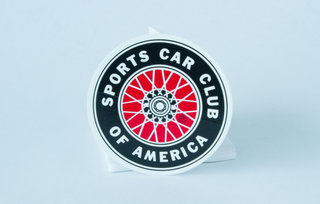 SCCA Wire Wheel Decal - Small