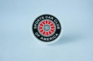 SCCA Wire Wheel Decal - Medium
