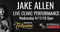 April 11: Jake Allen Clinic at Pitbull Audio