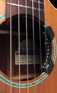 Soundhole with Korg Rimpitch tuner
