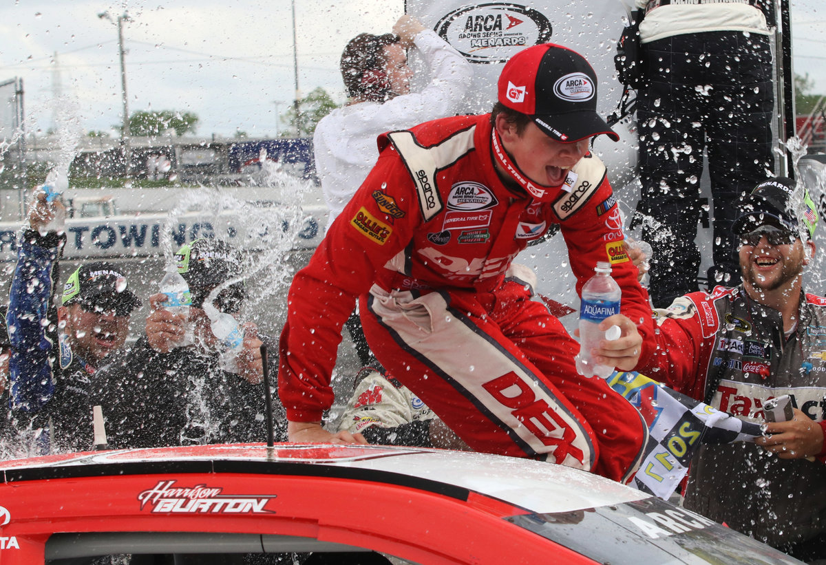 Harrison Burton wins Menards 200 at Toledo
