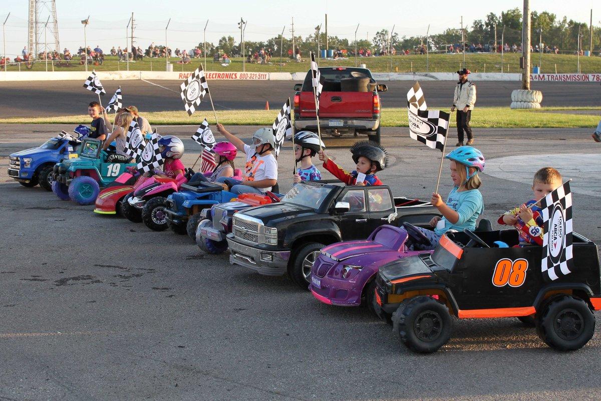 KIDS RACE IN POWER WHEELS DEMOLITION DERBY AT FLAT ROCK