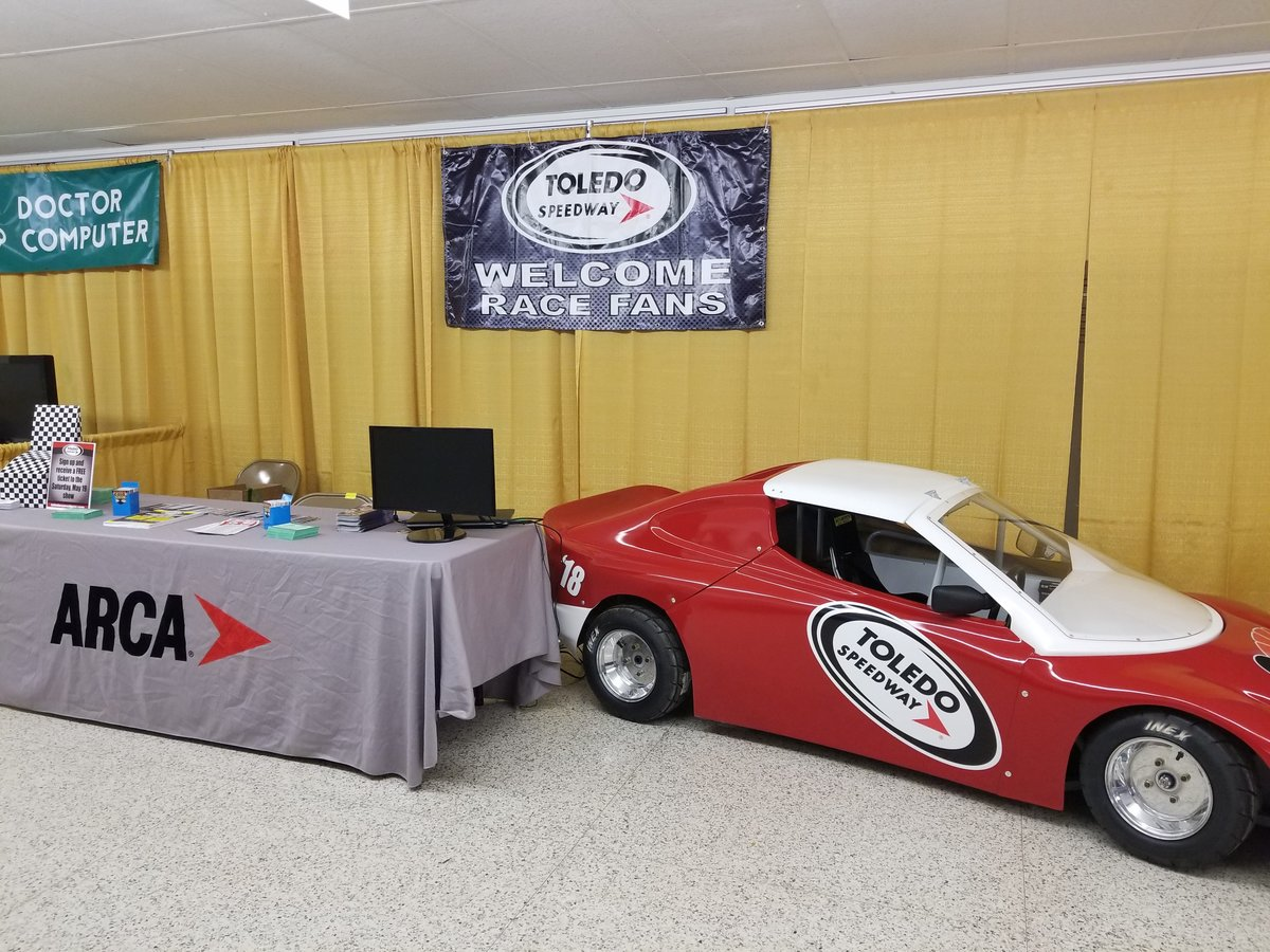 Visit the Toledo/Flat Rock Speedway Booth at Bedford Trade Fair
