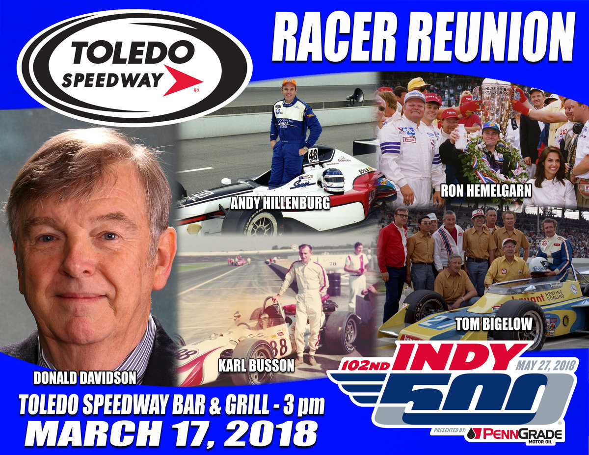 TOLEDO SPEEDWAY RACER'S REUNION FEATURES INDY 500 CONNECTION