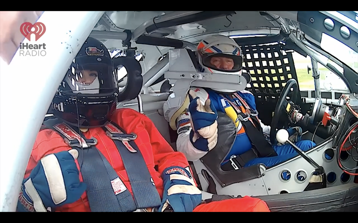 Video: Meaghan Mick rides with Ken Schrader at Toledo