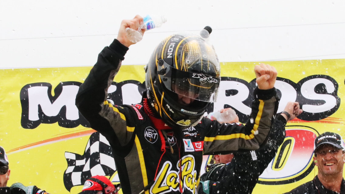 Zane Smith out-duels teammate Chase Purdy to win Menards 200 at Toledo