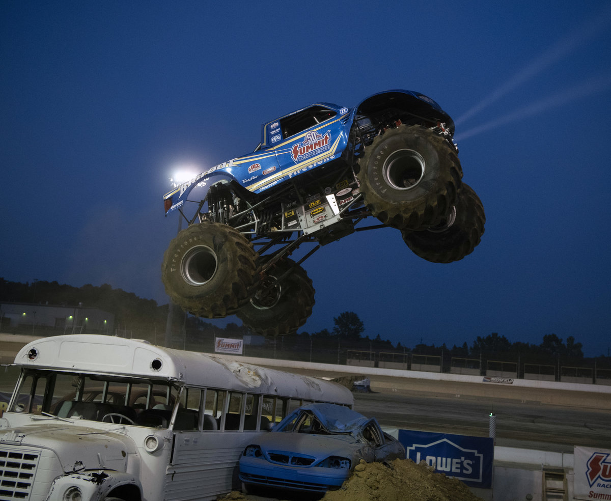 ALL STAR MONSTER TRUCK TOUR AT TOLEDO SPEEDWAY JULY 5