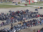 Bikers Fill The Lot