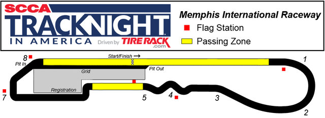 Title Memphis International Raceway Track Night in America