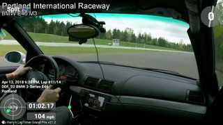 Lapping PIR in the rain, BMW E46 M3