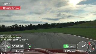 Hot lap Pitt Raceway